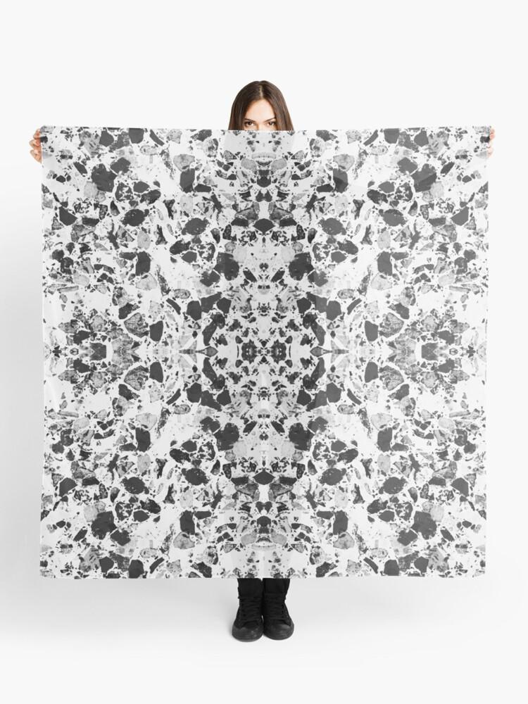 Elegant black and white Terrazzo Tile | Scarf