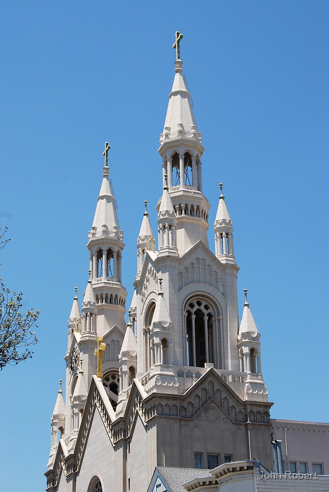 Steeple of Sts Peter and Paul by Bob Moore