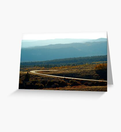 Boulder Mountain Colors Greeting Card