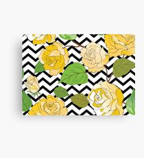 Watercolour Yellow Roses Canvas Print