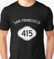 San Francisco 415 California Vintage Area Code Unisex T-Shirt
