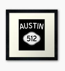 Austin 512 Texas Vintage Area Code Framed Print