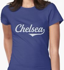 Chelsea - England - Vintage Sports Typography Women's Fitted T-Shirt