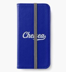 Chelsea - England - Vintage Sports Typography iPhone Wallet/Case/Skin