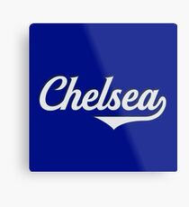 Chelsea - England - Vintage Sports Typography Metal Print
