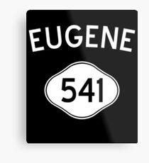 Eugene 541 Oregon Vintage Area Code Metal Print