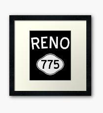 Reno 775 Nevada Vintage Area Code Framed Print