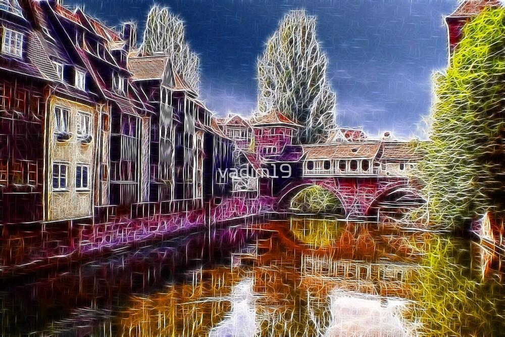 Pegnitz river, Nuremberg, Germany by vadim19