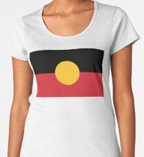 Australische Aborigines-Flagge Frauen Premium T-Shirts