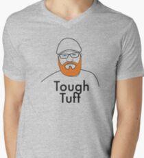 Tough Tuft - funny beard shirt Men's V-Neck T-Shirt