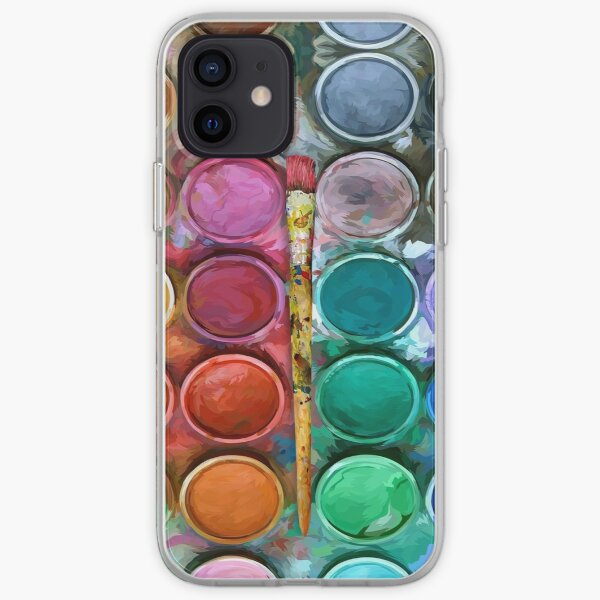 Watercolor Rainbow Flow Abstraction palette iPhone Soft Case
