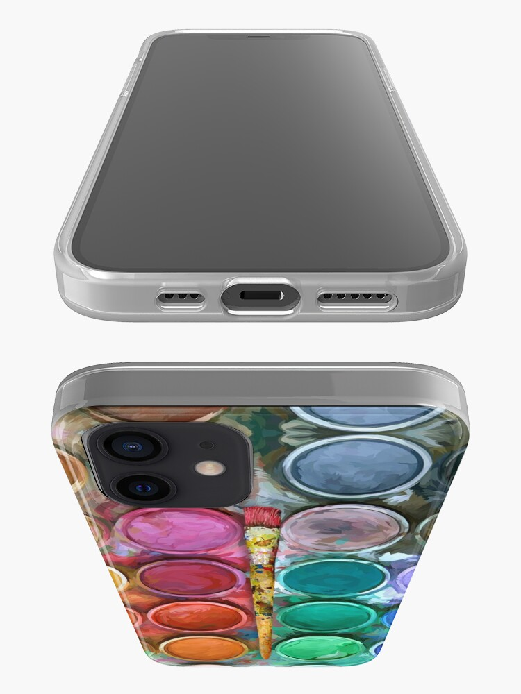 Alternate view of Watercolor Rainbow Flow Abstraction palette iPhone Case & Cover
