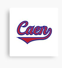Caen - France - French - Vintage Sports Typography Canvas Print