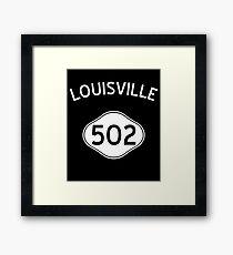 Louisville 502 Kentucky Vintage Area Code Framed Print