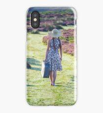 Traveller Girl on Scenic Upland  iPhone Case/Skin