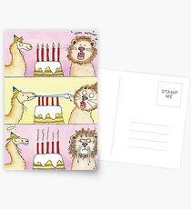 Llama vs Lion - Birthday Postcards