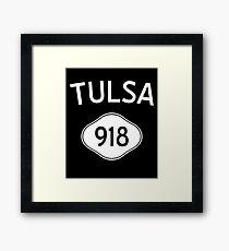Tulsa 918 Oklahoma Vintage Area Code Framed Print
