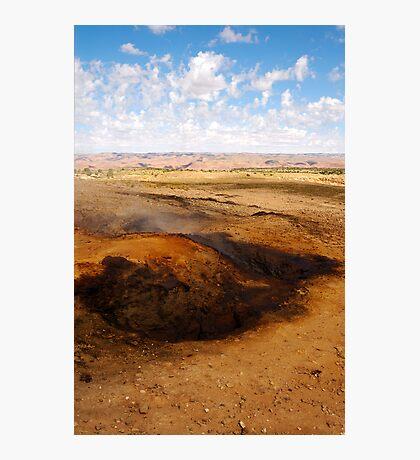 The burning hills Photographic Print