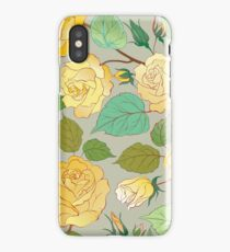 Watercolour Yellow Roses XII iPhone Case