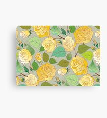 Watercolour Yellow Roses XII Canvas Print
