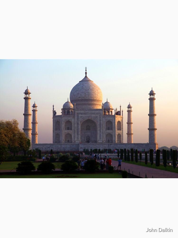 The Taj Mahal at sunrise. by JohnDalkin