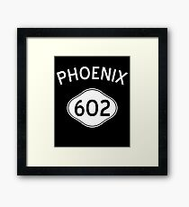Phoenix 602 Arizona Vintage Area Code Framed Print