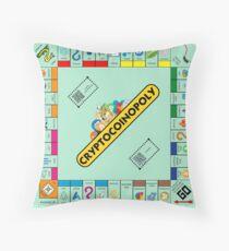Cryptocoinopoly - Crypto Monopoly Throw Pillow