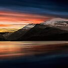 Lake Sunset Snowdonia by Adrian Evans