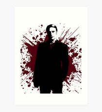 Hannibal - Splatter Series - Dr. Lecter Art Print