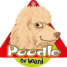 Poodle On Board - Apricot by DoggyGraphics