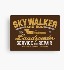 Skywalker & Son Land-speeder Service & Repair Canvas Print