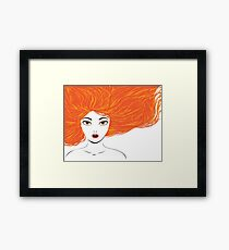 Girl with red hair Framed Print