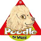 Poodle On Board - Mini Cream by DoggyGraphics