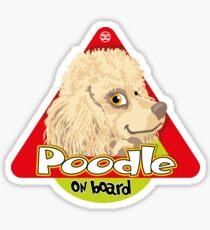 Poodle On Board - Mini Cream Sticker