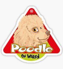 Poodle On Board - Mini Apricot Sticker