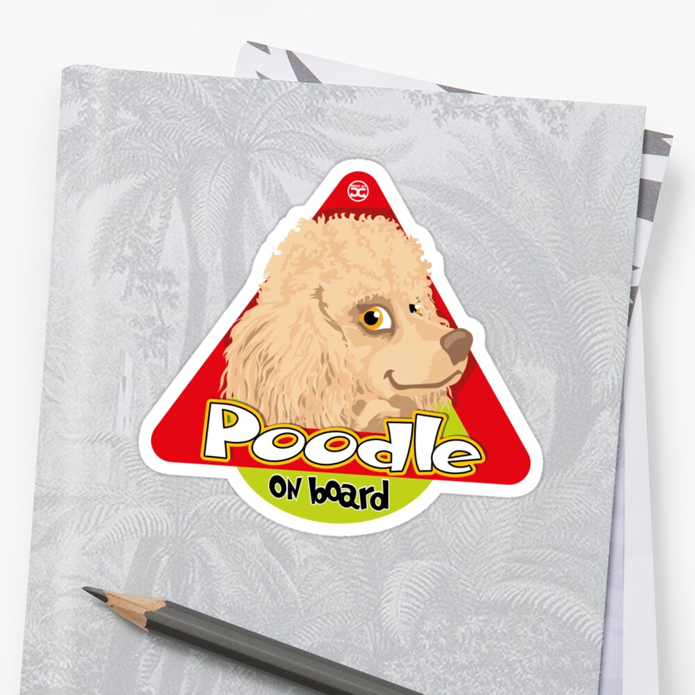 Poodle On Board - Mini Apricot Stickers