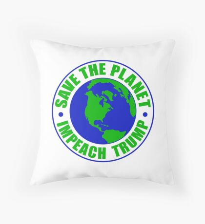 Save The Planet Impeach Trump Floor Pillow