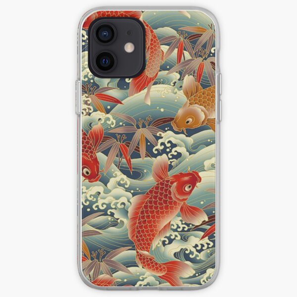 asia fish pattern iPhone Soft Case