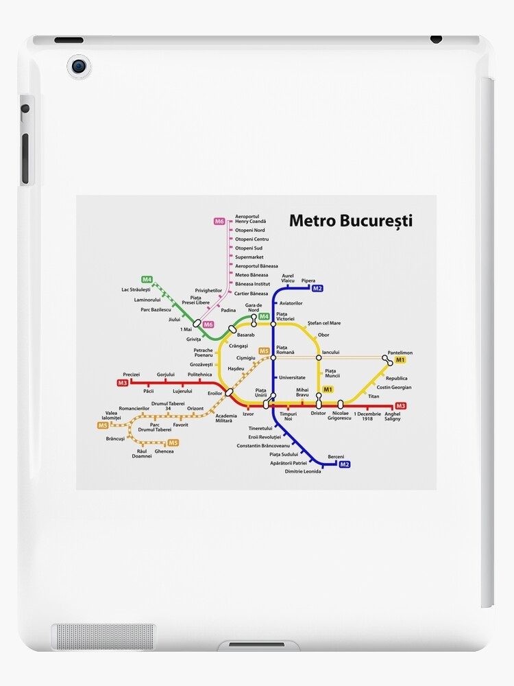 Bucharest Subway Map.Bucharest Metro Map Romania Ipad Case Skin By Superfunky
