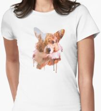 Corgi Forest  Women's Fitted T-Shirt
