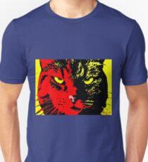 ANGRY CAT POP ART -  RED YELLOW BLACK Unisex T-Shirt