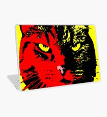 ANGRY CAT POP ART -  RED YELLOW BLACK Laptop Skin