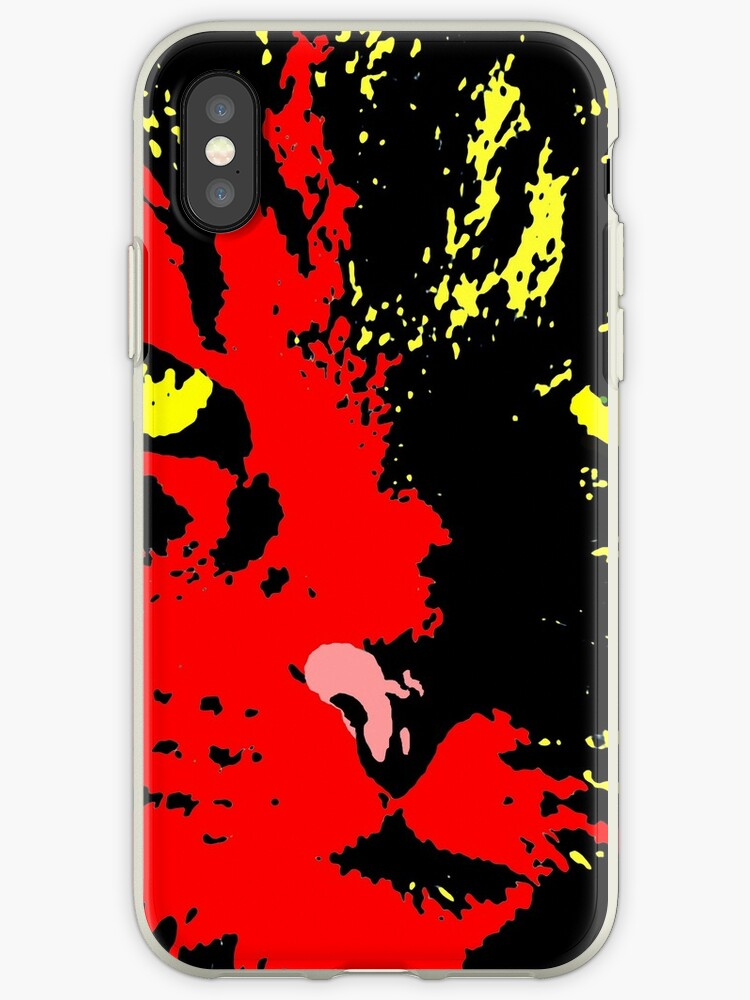 ANGRY CAT POP ART - RED YELLOW BLACK GREEN by NYWA-ART