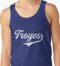 Troyes - France - Vintage Sports Typography Tank Top
