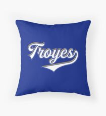 Troyes - France - Vintage Sports Typography Throw Pillow