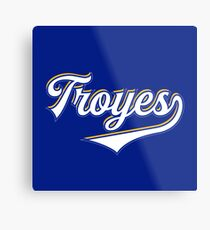 Troyes - France - Vintage Sports Typography Metal Print
