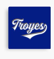Troyes - France - Vintage Sports Typography Canvas Print