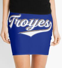 Troyes - France - Vintage Sports Typography Mini Skirt