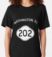 Washington, D.C. 202 D.C. Vintage Area Code Slim Fit T-Shirt