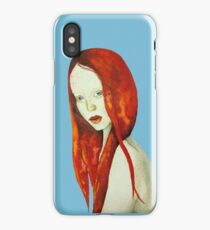 Watercolor Ginger girl iPhone Case/Skin
